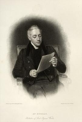 Mr. Murray, publisher of Lord Byron's works, engraved by E. Finden, 1833