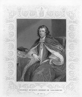 Gilbert Burnet, Bishop of Salisbury, engraved by H. Robinson