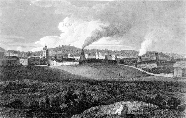 View of Bristol from Pile Hill, engraved by Heath, pub. by John Agg, 1809