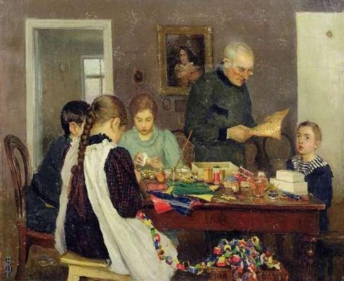 Preparation for Christmas, 1896