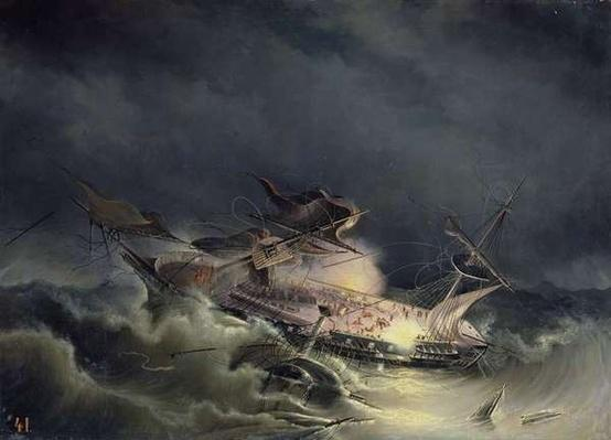 The disaster of the Liner Ingermanland at Shagerrake near Norway on the 30th August 1842, 1843