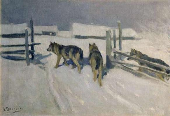 Wolfs, Winter Night, c.1910