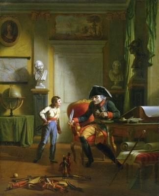 Frederick II the Great with his grandnephew Frederick Wiliam III, 1814