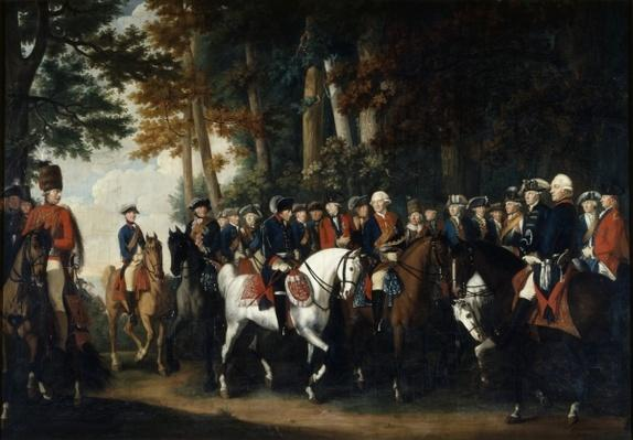 King Frederick II's return from Preussen von Manoever, c.1785