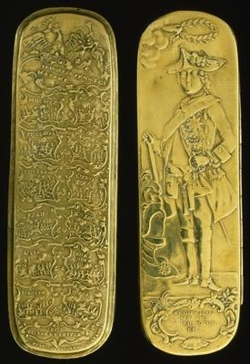 Tobacco box depticting Frederick II and his victories