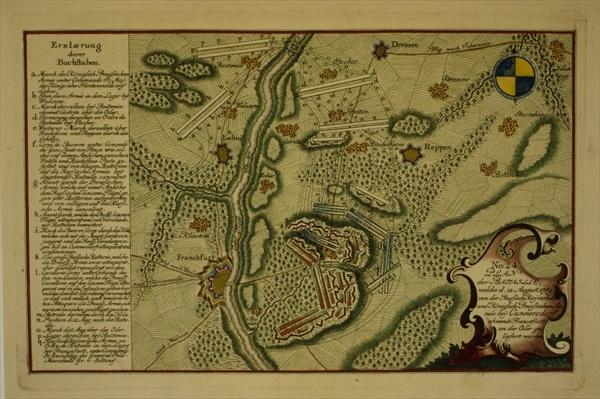 Plan of the Battle of Kunersdorf, August 12th, 1759, 1759