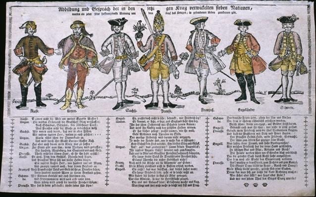 Copy and Discussion of the Nations Currently at War, c.1760