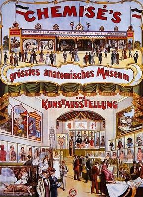 Poster advertising 'Chemise's Grosstes anatomisches Museum und Kunstausstellung', c.1890