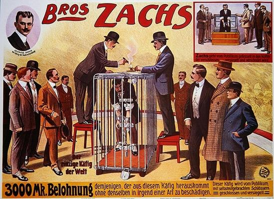 Poster advertising the 'Bros Zachs', 1912