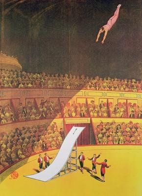 Circus high diver, 1914