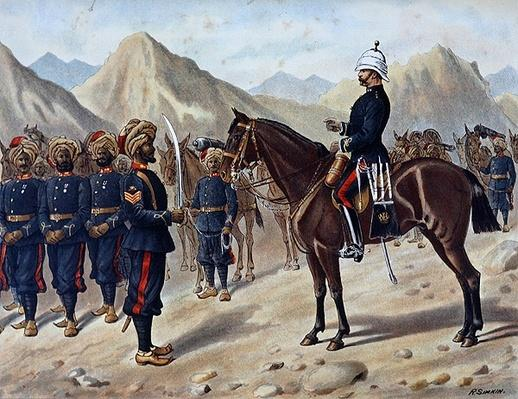 Punjab Frontier Force No.1 Kohat Mountain Battery, the Anglo-Indian Army of the 1880s