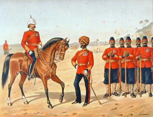 The Queen's Own Madras Sappers and Miners, Review Order, Anglo-Indian Army of the 1880s