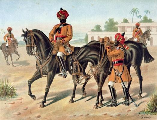 The 1st Bengal Cavalry, Review Order, Anglo-Indian Army of the 1880s