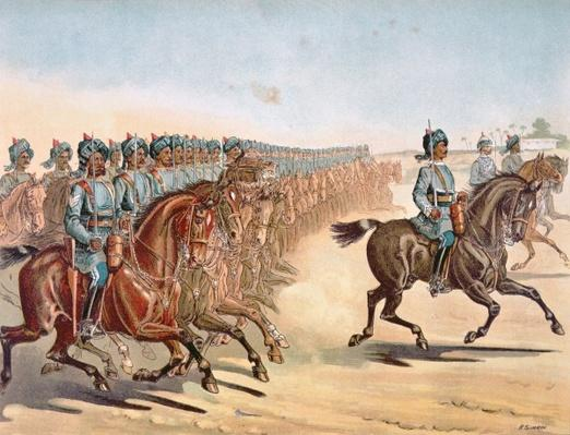 The 3rd Madras Light Cavalry, review order, Anglo-Indian Army of the 1880s