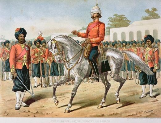 The 7th Bengal Infantry on Parade, the Anglo-Indian Army of the 1880s