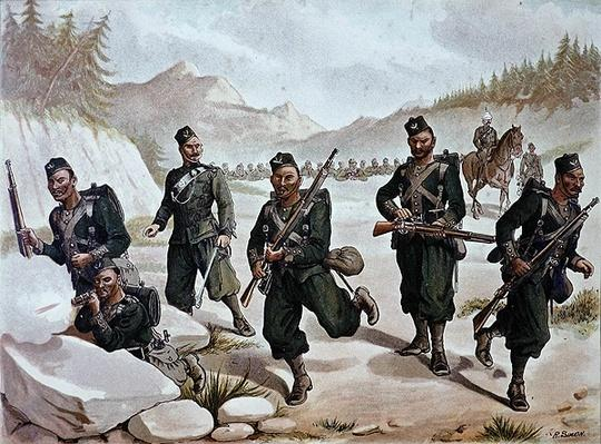 The 3rd Gurkhas Skirmishing, the Anglo-Indian Army of the 1880s