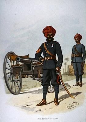 The Bombay Artillery, 1888