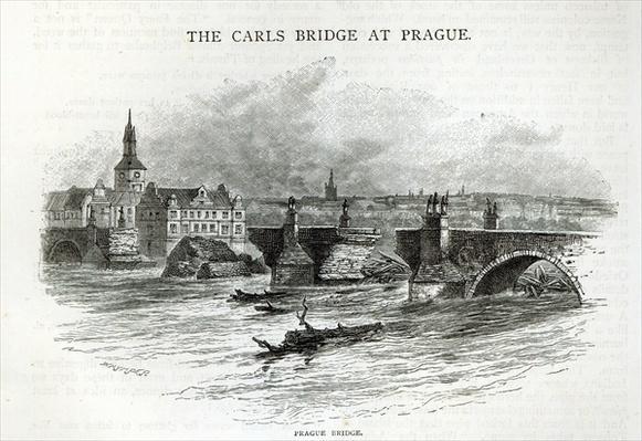 Prague Bridge, from 'Leisure Hour', 1891