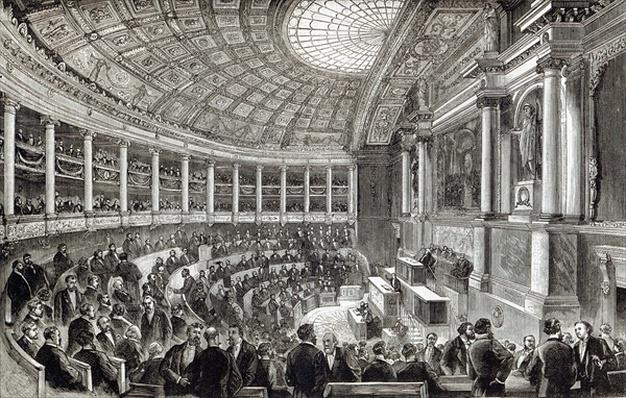 The Chamber of Deputies, Paris, from 'Leisure Hour', 1891