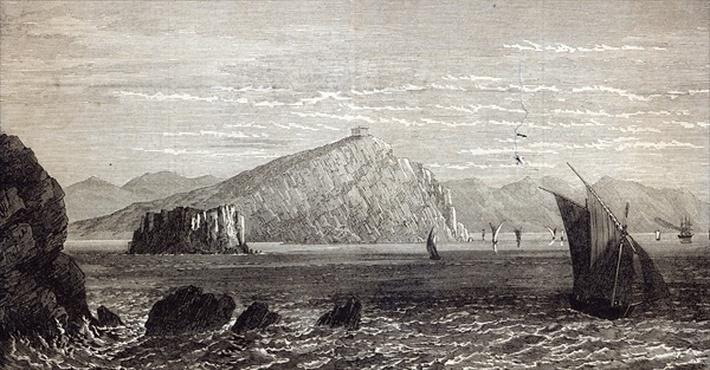 Cape Colonna, with ruins of the Temple of Minerva, coast of Greece, from 'The Illustrated London News'