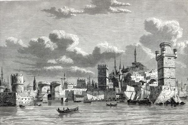 General View of the City of Rhodes, from 'The Illustrated London News'