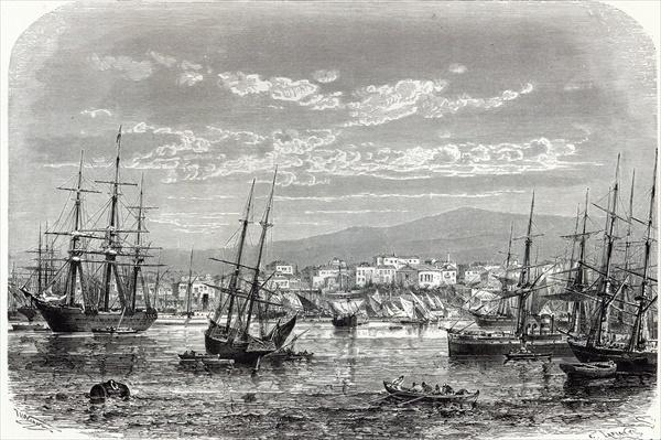 Athens: general view of the Piraeus, from 'The Illustrated London News'