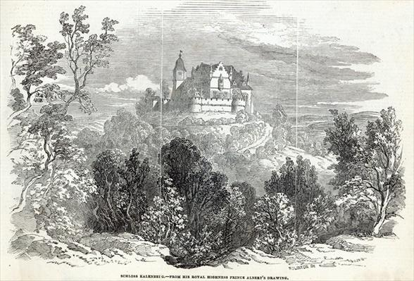 Schloss Kalenberg, engraved by W.J. Linton, from 'The Illustrated London News', 16th August 1845
