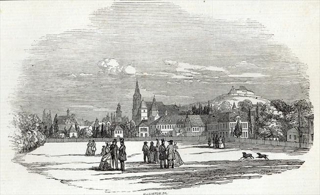 Coburg, engraved by W.J. Linton, from 'The Illustrated London News', 13th September 1845