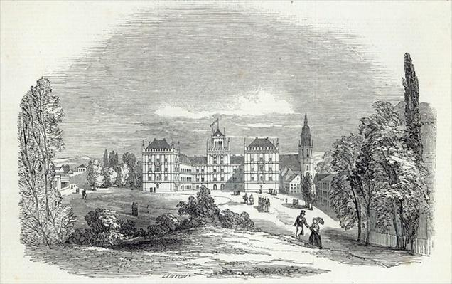 The Palace of Ehrenburg, at Coburg, engraved by W.J. Linton, from 'The Illustrated London News', 30th August 1845