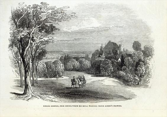 Schloss Rosenau, near Coburg, from 'The Illustrated London News', 30th August 1845