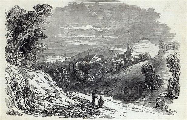 Coburg, from 'The Illustrated London News', 16th August 1845