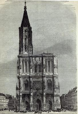 Strasburg Cathedral, from 'The Illustrated London News', 1870