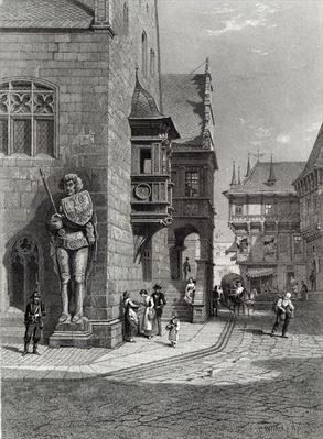 Town Hall, Halberstadt, engraved by E. Joubert, printed by Cassell & Company Ltd