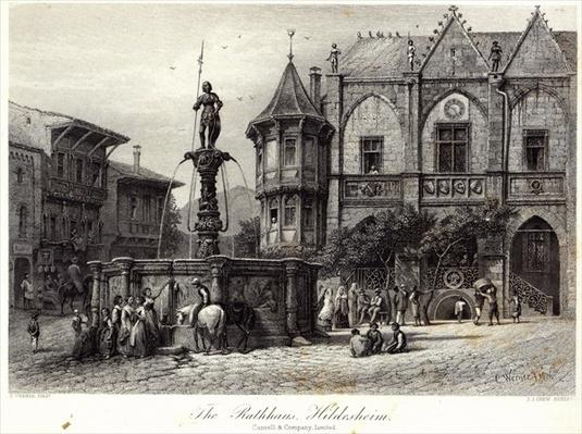 The Rathhaus, Hildesheim, engraved by J.J. Crew, printed by Cassell & Company Ltd