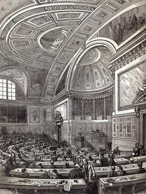The French Chamber of Peers, from The Illustrated London News, 1st February 1845