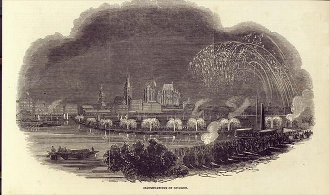 Illuminations of Cologne, 23rd August 1845