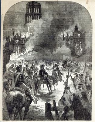 The burning of Old St. Paul's, 1666