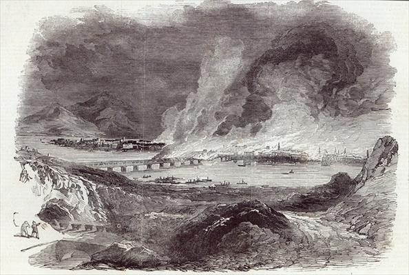 Great Fire at Pittsburgh, from The Illustrated London News, 17th May 1845