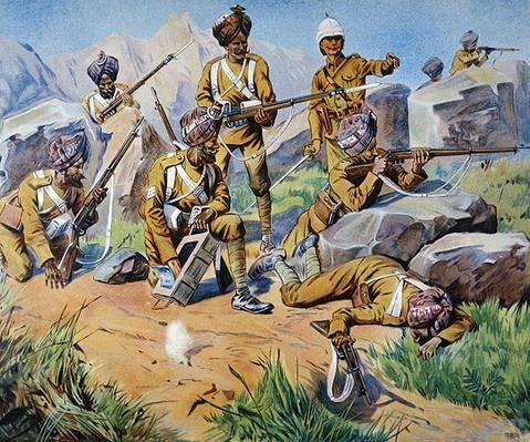 Indian Troops at Bay, 1900