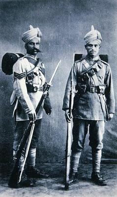 Indian Soldiers of the British Army, stationed as Tientsin, China in 1911