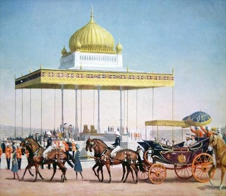 King George V at the Delhi Durbar, 1911