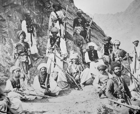 The Khan of Lalpura with some of his warriors