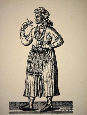 Portrait of the Great Mogol, illustration from 'Voyage to East India'