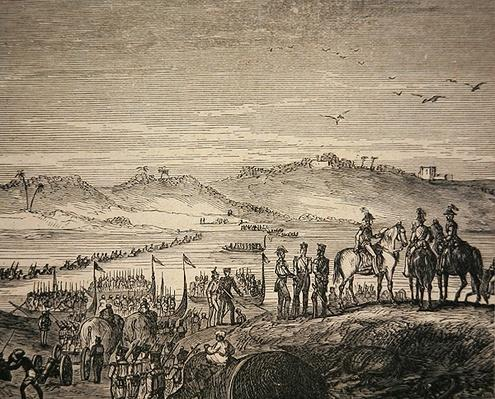 The British Army Crossing the Sutlej River, 1846