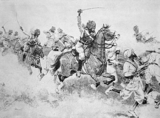 The 9th Bengal Cavalry Charge the Beloochees, Battle of Meanee, 17th February 1843