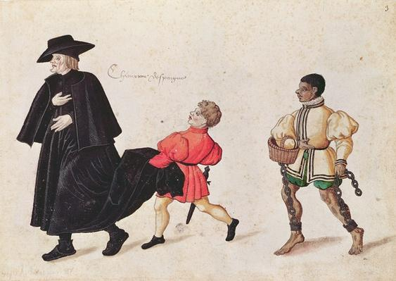 Priest with a Spanish Servant Boy and Slave