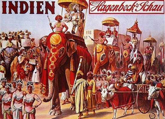 Poster advertising 'Indien - Hagenbeck's Schau', 1906