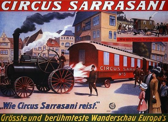 Poster advertising the 'Circus Sarrasani', 1910