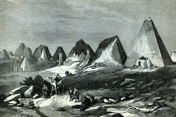 Pyramids of Meroe, on the Nile
