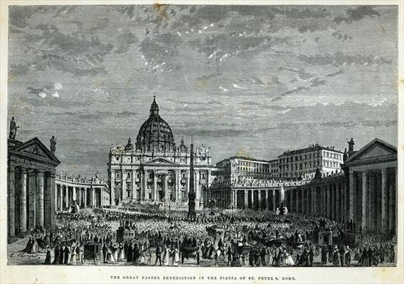 The Great Easter Benediction in the Piazza of St. Peter's, Rome